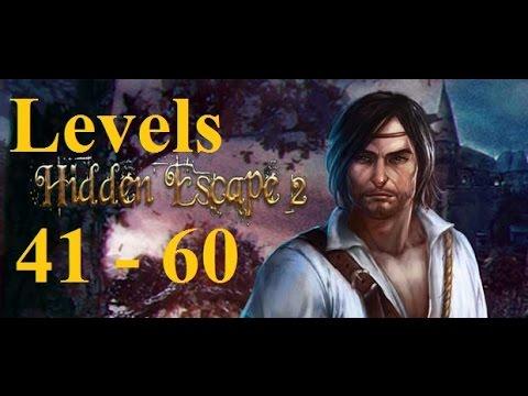 Hidden Escape  прохождение - 100 Дверей Приключения -  41 - 60 уровень (41 - 60 levels)