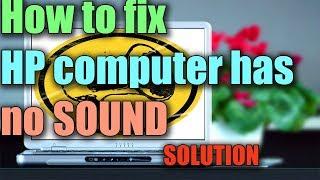 no sound on hp computer windows 7