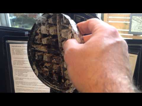 Cleaning a Belgian Waffle Iron