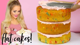 How To Bake Flat Cakes (5 Hacks For Baking Layer Cakes) // Lindsay Ann