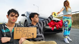 Giving FREE CARS To Strangers But We're Homeless