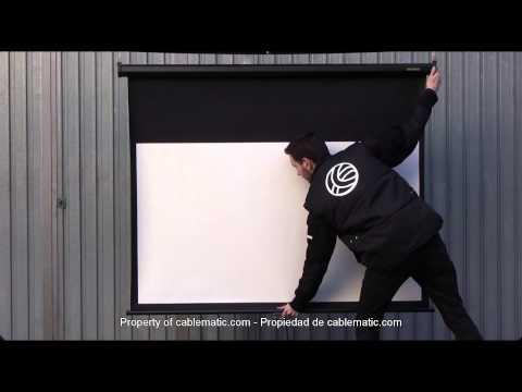 Pantalla de proyección de pared negra16:9 DisplayMATIC® distribuido por CABLEMATIC ®