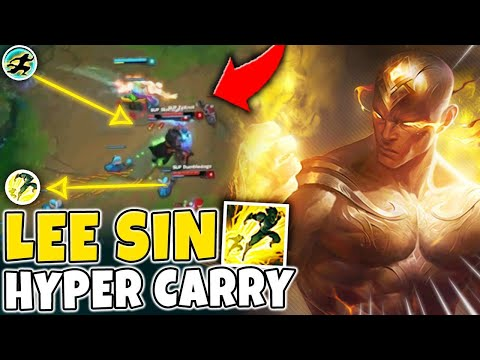 WHEN LEE SIN BECOMES A HYPER CARRY! PERFECT LEE SIN MECHANICS - League of Legends