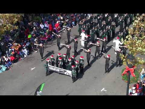 green hope hs marching band in raleigh christmas parade 2017 play
