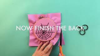 DIY Spiderweb Embroidery Hoops