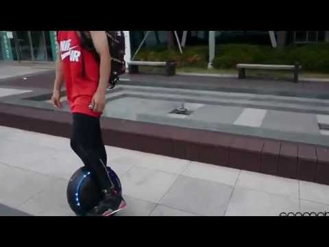 TG F5 Self balancing Electric Unicycle Monocycle Review & Test mp4