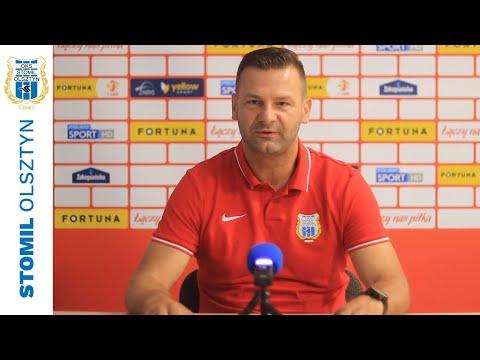 Adrian Stawski przed meczem Stomil Olsztyn - Chrobry Głogów
