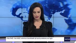 RTK3 Lajmet e orës 12:00 22.01.2021