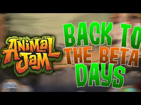 HOW TO GO BACK TO THE BETA DAYS ON ANIMAL JAM! *2017*