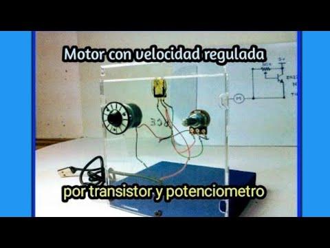 Motor de velocidad variable con potenciometro y transistor NPN