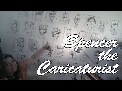Spencer The Caricaturist Video