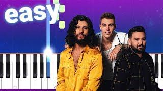 Dan + Shay, Justin Bieber   10,000 Hours (100% EASY PIANO TUTORIAL)
