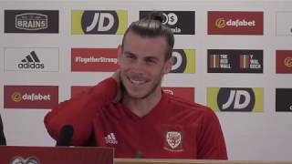 Wales Captain Gareth Bale Previews Slovakia Match - Full Press Conference
