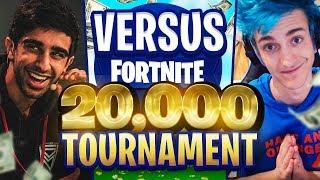 VIKKSTAR & TINNY vs  NINJA & DRLUPO in Fortnite $20,000 TOURNAMENT