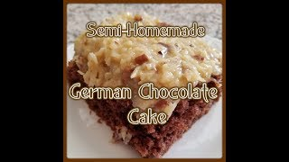 homemade german chocolate cake with coconut pecan frosting