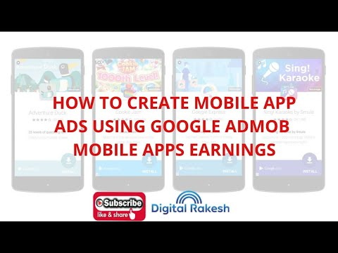 How to create mobile app ads using google admob  Mobile apps earnings