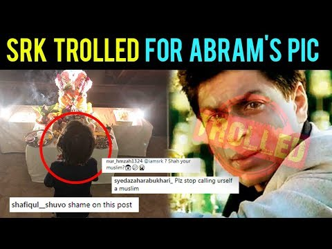 Shah Rukh Khan TROLLED For AbRam Worshipping Lord