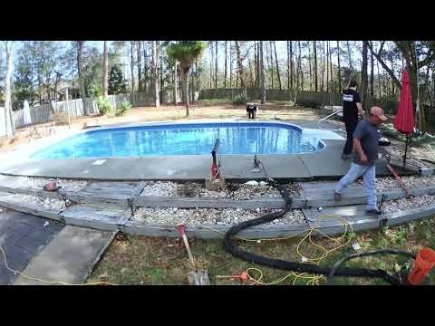Fixing a Pool with PolyLevel in Wilmington, NC