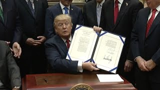 Trump Signs Veterans Health Choice Program Extension - Full Ceremony And Remarks