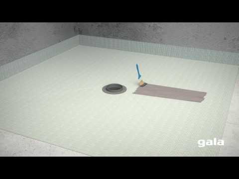Como instalar el kit de desagüe Gala-Drain para platos de ducha de obra.Rejilla-Cuadrada