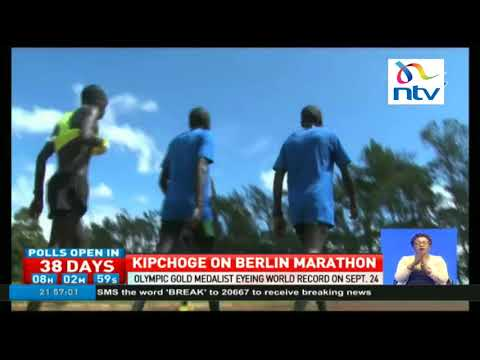 Olympic marathon champion Eliud Kipchoge eyeing world record on September 24