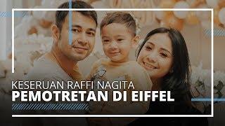 Raffi Ahmad dan Nagita Slavina Pemotretan Berlatar Eiffel, Serasi Pakai Baju Hitam