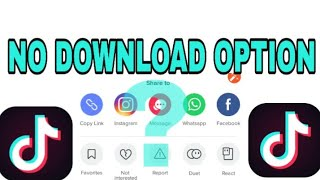 Tiktok|| how to download tiktok videos easily || no save video option ||