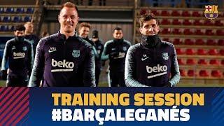 Last training session before the match against Leganés