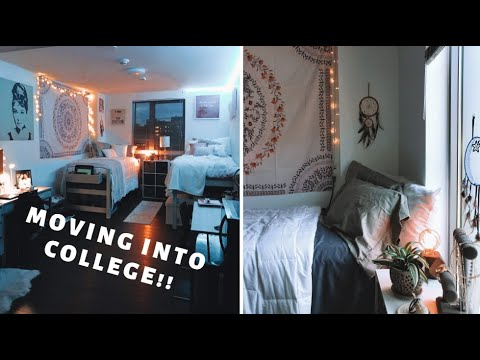 MOVING INTO UMASS BOSTON | ROOM TOUR | Sydney Spiess