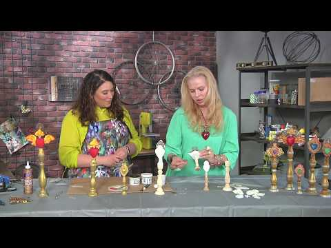 Sandra Evertson transforms candlesticks into art