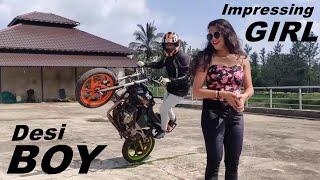 Bike Stunt Dekh Kar Ladki Hogayi Pagal 🔥 Ft Tpsz & Krithi Shetty #withme
