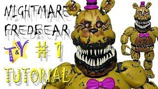 Как слепить Кошмарного Фредбера из пластилина ФНАФ Туториал 1 Nightmare Fredbear FNAF Tutorial 1