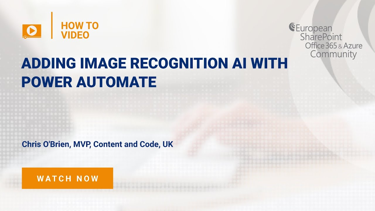 How To add image recognition AI with Power Automate