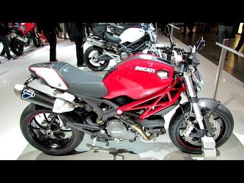 2014 Ducati Monster 796 Accessoires Walkaround - 2013 EICMA Milan Motorcycle Exhibition