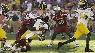 Blown Call in Outback Bowl and Jadeveon Clowney Retaliates 2013