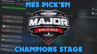 CS:GO Starladder Major 2019 - Mes Pick'Em pour le Champions Stage