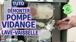 Comment réaliser le démontage de la pompe d\'un lave-vaisselle ?
