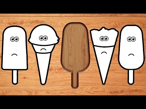 Wrong Wooden Slots with Crying Ice Cream & Popsicle - Coloring for Kids letöltés
