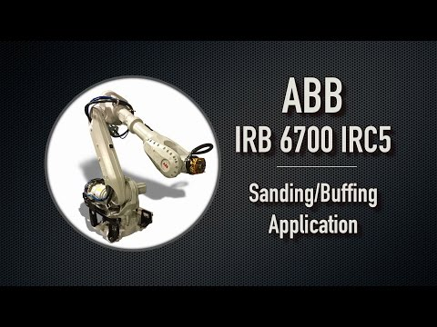 ABB IRB 6700 IRC5 Performing Sanding and Buffing
