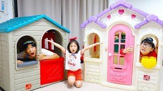 보람이의 집 만들기 플레이 하우스 조립 타요 버스 공구놀이 어린이 수리놀이 build Playhouses for children