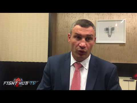 "VITALI KLITSCHKO ""I HAVE FEELING, I GO BACK IN RING, I WOULD KO JOSHUA"" FEELS GUILT FOR WLAD'S LOSS"
