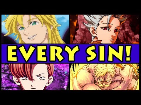 The 7 Sins RANKED from Weakest to Strongest! (Seven Deadly Sins / Nanatsu no Taizai)
