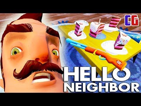 Hello Neighbor ДОБЫЛ ТАЙНОЕ ОРУЖИЕ СОСЕДА! Новые тайны Акт 3 Мультяшный хоррор Привет Сосед видео