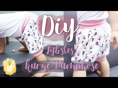 DIY | Nähvideo | kurze Pumphose von Lybstes | Aennecken