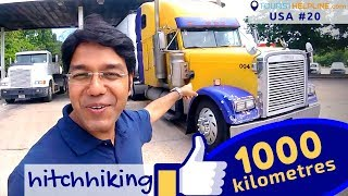 The longest ride in a Truck | Hitchhiking in USA
