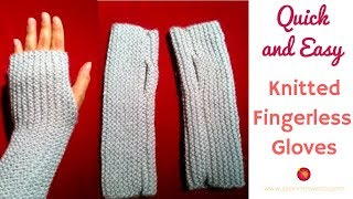 Knitted Fingerless Gloves | A Quick And Easy Knitted Project | Fingerless Mitts