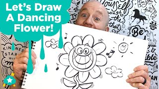 Let's Draw A Dancing Flower!