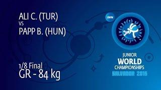 1/8 GR - 84 kg: C. ALI (TUR) df. B. PAPP (HUN) by TF, 9-4