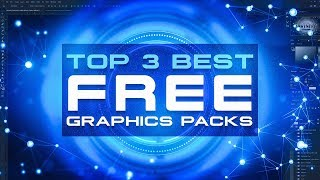 Top 3 BEST FREE Graphic Design Packs! (2019)