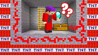 He FELL For My TNT TROLL CHEST In My BASEMENT! (Minecraft)